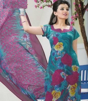 Crepe dress material elegant designer unstitched salwar suit d.no 5153