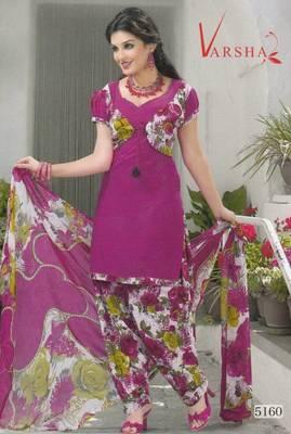 Crepe dress material elegant designer unstitched salwar suit d.no 5160