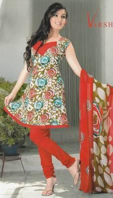 Crepe dress material elegant designer unstitched salwar suit d.no 5190