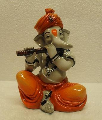 Ganpati Playing Basuri/Flute
