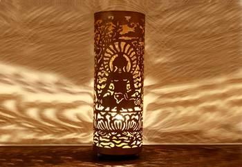 Buddha Lamp (Gold) large