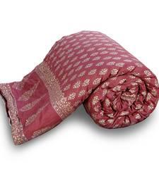 Buy Jaipuri Floral Golden Pure Cotton Double Bed jaipuri-razai online