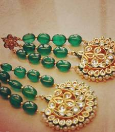 Buy Green Emerald  Jhoomar Earrings stud online