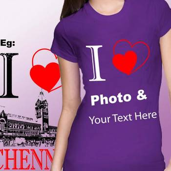 I Love Girls Custom Tshirt at Offer, Womens Custom T-shirt at Deal price