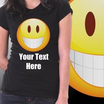 Smileys Girls Custom Tshirt at Offer, Womens Custom T-shirt at Deal price