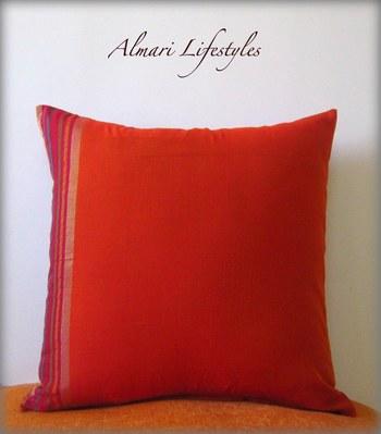 Chanderi Cotton Cushion Cover