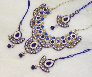 Elegant bridal party zircon colored stone necklace set ns11