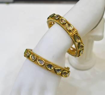 Antique Diamond Polki Bangles