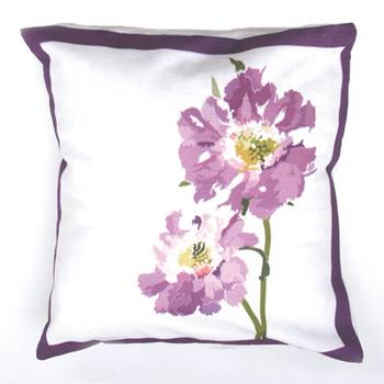 Purple Flower Cushion Covers