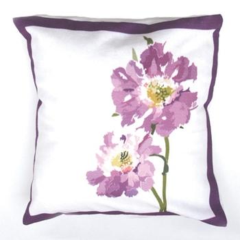 Purple Flower Cushion Covers