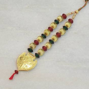 Beautiful elegant temple colored stone necklace