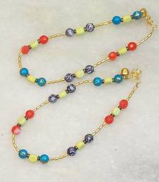 Buy colored bead payal gifts-for-her online