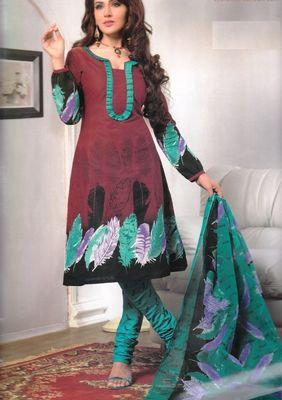 Cotton Dress Material Elegant Designer Unstitched Salwar Suit D.No 3172