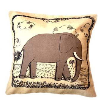 Haathi Chap Cushion Cover
