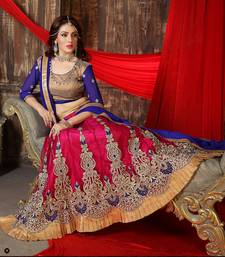Buy New Designer Red Embroidery Worked Lehenga Choli lehenga-choli online