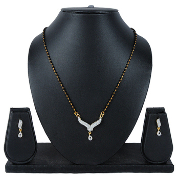 Luxor AD Studded Simple Mangalsutra Mother's day special