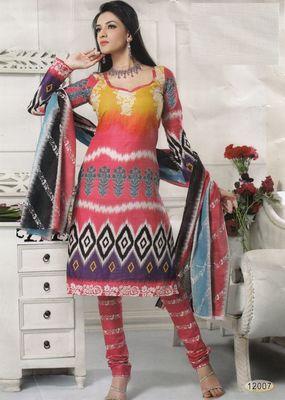 Cotton Dress Material Elegant Designer Unstitched Salwar Suit D.No 12007