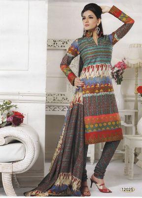 Cotton Dress Material Elegant Designer Unstitched Salwar Suit D.No 12025