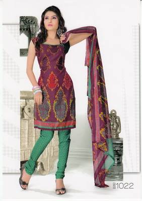 Dress Material Elegant Crepe Printed Unstitched Salwar Kameez Suit D.No 1022