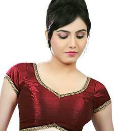 Buy Butterfly.light ,soft, wing shaped, padded ready made stitched blouse maroon readymade-blouse online