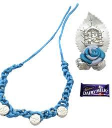 Buy Oceanic Blue OM  Rakhi For Brother rakhi-with-chocolate online
