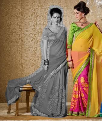 Elegant Designer Sari Gun8412b