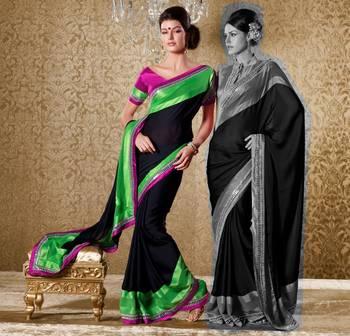 Elegant Designer Sari Gun8414a