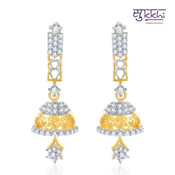 Sukkhi Estonish Gold and Rhodium Plated CZ Jhumki(120E1300)