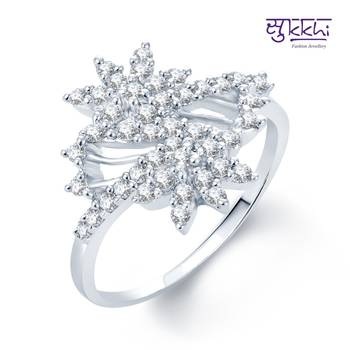 Sukkhi Stylish Rhodium Plated CZ rings(148R510)