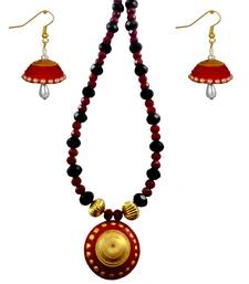 Buy Handmade Paper Jewellery and Quilling Necklace Set necklace-set online