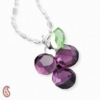 Purple Grape Crystal Pendant