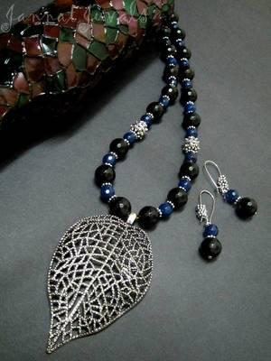 Black and Blue Onyx set