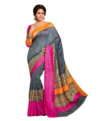 Styloce Multi Bhagalpuri Silk Saree