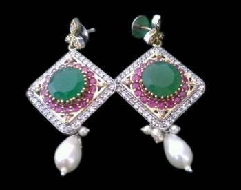 Crystal Encrusted Statement Earrings