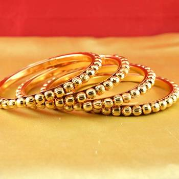 gold platted bangles size-2.4,2.6,2.8