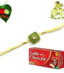 Buy Jewel Rakhi  with chocolate jeweled-rakhi online
