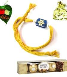 Buy Online Jewel Rakhi  with Chocolate jeweled-rakhi online