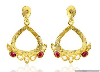 Kshitij Golden Red earrings