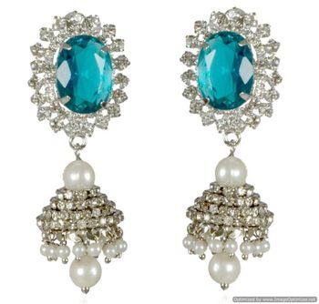 Kshitij Light Blue Radiance Chandelier Earrings