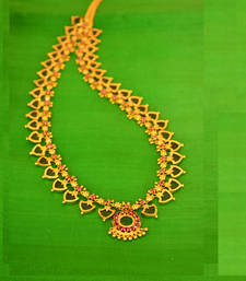 Buy Green Long Palakk Necklace Necklace online