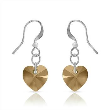 Mahi Rhodium Plated Love in the Air Earrings with Swarovski elements